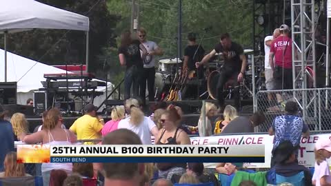 B-100 celebrates birthday party at St. Joseph County Fairgrounds